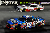 NASCAR XFINITY Series<br /> Food City 300<br /> Bristol Motor Speedway, Bristol, TN USA<br /> Friday 18 August 2017<br /> Kyle Busch, NOS Rowdy Toyota Camry and Cole Custer, Haas/One Cure Ford Mustang<br /> World Copyright: Rusty Jarrett<br /> LAT Images