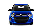 Car photography straight front view of a 2018 Citroen C1 Feel 5 Door Hatchback