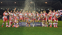 Gloucester Rugby celebrate winning the European Rugby Challenge Cup Final