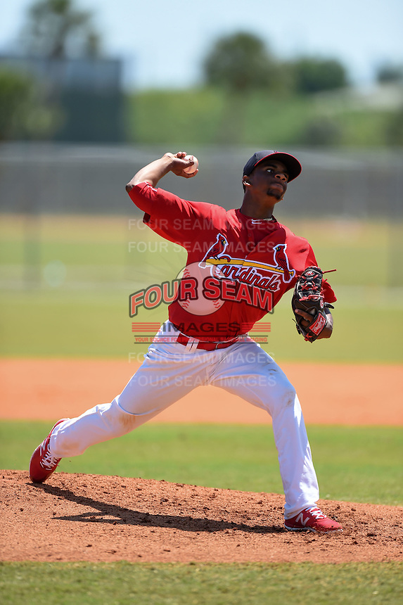 St. Louis Cardinals pitcher Ronnie Williams (11) during a minor league spring training game against the Miami Marlins on March 31, 2015 at the Roger Dean Complex in Jupiter, Florida.  (Mike Janes/Four Seam Images)