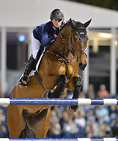 WELLINGTON, FL - MARCH 14: Molly Ashe-Cawley participants in the $127,000 Horseware Ireland Grand Prix at the Winter Equestrian Festival at Palm Beach International Equestrian Center on March 14, 2015 in Wellington, Florida.<br /> <br /> <br /> People:  Molly Ashe-Cawley