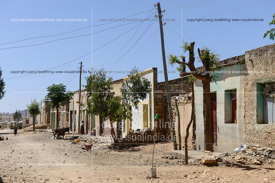 ETHIOPIA, Tigray, Zalembessa, border town to Eritrea/ AETHIOPIEN, Tigray, Hochland, Blick zum Grenzgebiet Eritrea