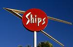 Ships sign at La Cienega and Olympic circa 1989