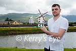 Trevor Leen with his Blennerville Windmill replica at the windmill on Saturday