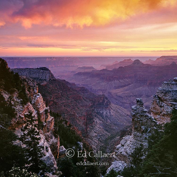 Sunset, Obi Point, North Rim, Grand Canyon National Park, Arizona