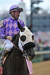 Jockey Kent Desormeaux on Victoria's Wildcat wins the G3 Eight Belles Stakes at Churchill Downs in Louisville, Kentucky Friday, May 6, 2011