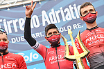 Nairo Quintana (COL) and Team Arkea-Samsic at sign on before the start of Stage 2 of Tirreno-Adriatico Eolo 2021, running 202km from Camaiore to Chiusdino, Italy. 11th March 2021. <br /> Photo: LaPresse/Gian Mattia D'Alberto | Cyclefile<br /> <br /> All photos usage must carry mandatory copyright credit (© Cyclefile | LaPresse/Gian Mattia D'Alberto)