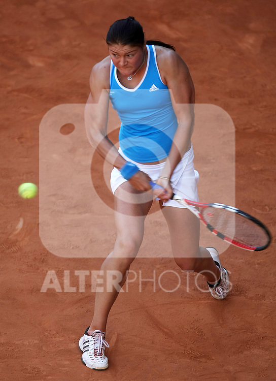 Russia's Dinara Safina during his Madrid Open quarter final match.May 15 2009.(ALTERPHOTOS/Acero).