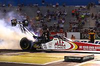 May 31, 2013; Englishtown, NJ, USA: NHRA top fuel dragster driver Doug Kalitta during qualifying for the Summer Nationals at Raceway Park. Mandatory Credit: Mark J. Rebilas-