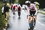 Polka Dot Jersey Wout Poels (NED) Bahrain Victorious attacks on the Col des Saisies during Stage 9 of the 2021 Tour de France, running 150.8km from Cluses to Tignes, France. 4th July 2021.  <br /> Picture: A.S.O./Pauline Ballet   Cyclefile<br /> <br /> All photos usage must carry mandatory copyright credit (© Cyclefile   A.S.O./Pauline Ballet)