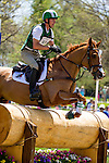 APRIL 26, 2014: HOUSTON, ridden by Daniel Clasing (USA), competes in the Cross County Test at the Rolex Kentucky 3-Day Event at the Kentucky Horse Park in Lexington, KY. Jon Durr/ESW/CSM