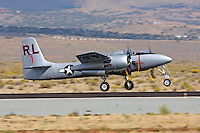 F7F Tigercat gets airborne at the 2011 Reno National Championship Air Races.