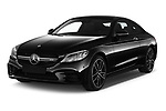 2020 Mercedes Benz C class 43-AMG 2 Door Coupe angular front stock photos of front three quarter view