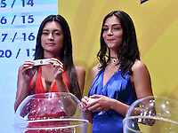 BOGOTA – COLOMBIA - 17-01-2017: A models during the Dimayor draw for the championship Liga Aguila I 2017. Photo: VizzorImage / Luis Ramírez / Staff.