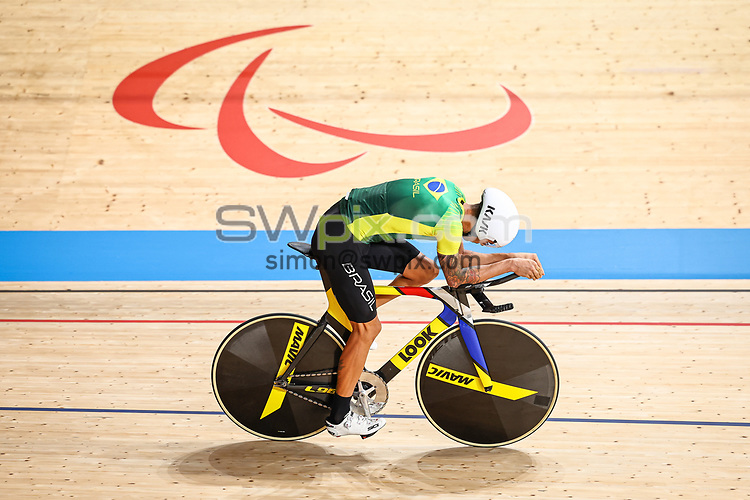 Picture by Alex Whitehead/SWpix.com - Tokyo 2020 Paralympics - 24/08/2021 - Track Cycling - Izu Velodrome, Izu, Japan - Lauro Chaman of Brazil during practice.
