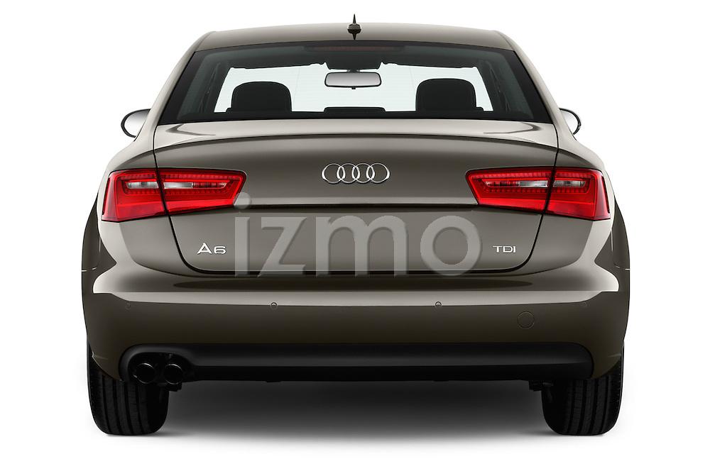 Straight rear view of a 2014 Audi A6 AVUS 4 Door Sedan 2WD