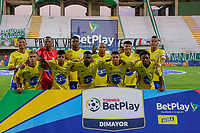 VALLEDUPAR - COLOMBIA, 08-02-2021: Valledupar F.C. y Real Cartagena en partido por la fecha 4 del Torneo BetPlay DIMAYOR I 2021 jugado en el estadio Armando Maestre Pavajeau de la ciudad de Valledupar. / Valledupar F.C. and Real Cartagena in match for the for the date 4 as part of BetPlay DIMAYOR Tournament I 2021 played at Armando Maestre Pavajeau stadium in Valledupar city. Photo: VizzorImage / Adamis Guerra / Cont