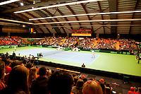 06-04-12, Netherlands, Amsterdam, Tennis, Daviscup, Netherlands-Rumania, Dubbels, Igor Sijsling en Jean-Julien Rojer