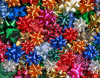 USA, Multi-colored bows.