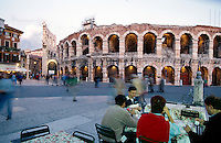 römische Arena in Verona, Venetien-Friaul, Italien, Unesco-Welterbe