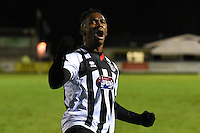 Grimsby Townplayers celebrate on the final whistle during the Vanarama National League match between Eastleigh and Grimsby Town at The Silverlake Stadium, Eastleigh, Hampshire on Nov 21, 2015. (Photo: Paul Paxford/PRiME)
