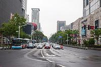 Nanjing, Jiangsu, China.  Street Scene.