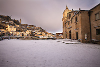 Europe,Italy,Basilicata, Matera, capital of Culture, World Heritage Site, Church San Pietro caveoso,