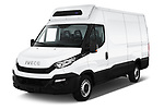 2018 Iveco Daily 35S 4 Door Cargo Van angular front stock photos of front three quarter view