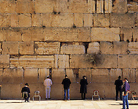 Jews pray at the Western Wall (Wailing Wall), Jerusalem, Israel