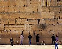 Jews pray at the Western Wall (Wailing Wall), Jerusalem, Israel