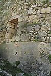 Israel, Jerusalem Mountains, ruins of the Crusader fortress Belmont on Mount Tzuba