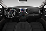 Stock photo of straight dashboard view of a 2019 Chevrolet Silverado 1500 LTZ 4 Door Pick Up