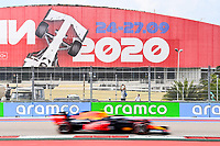 26th September 2020, Sochi, Russia; FIA Formula One Grand Prix of Russia, qualification;  33 Max Verstappen NLD, Aston Martin Red Bull Racing on his way to 2nd on pole