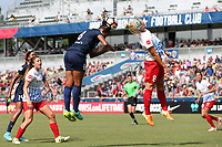 Cary, North Carolina  - Sunday May 21, 2017: Rosana, Julie Ertz during a regular season National Women's Soccer League (NWSL) match between the North Carolina Courage and the Chicago Red Stars at Sahlen's Stadium at WakeMed Soccer Park.