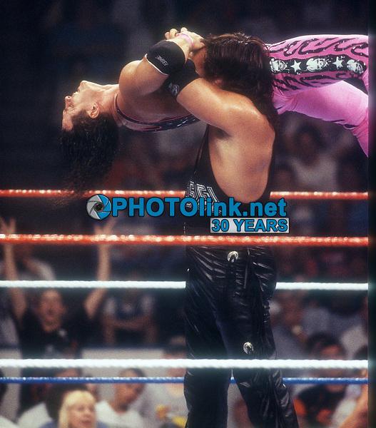 Brett Hart (being lifted up), 1993, Photo By John Barrett/PHOTOlink