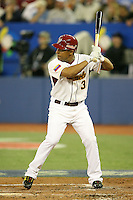 March 7, 2009:  Cesar Izturis (3) of Venezuela during the first round of the World Baseball Classic at the Rogers Centre in Toronto, Ontario, Canada.  Venezuela defeated Italy 7-0 in both teams opening game of the tournament.  Photo by:  Mike Janes/Four Seam Images