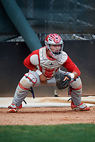 Philadelphia Phillies Cesar Rodriguez during a Minor League Extended Spring Training game against the Atlanta Braves on April 20, 2018 at Carpenter Complex in Clearwater, Florida.  (Mike Janes/Four Seam Images)