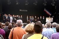La ville de Saint-Etienne du Rouvray a organisé au parc omnisport Youri Gagarine une cérémonie en hommage au père Jacques Hamel, assassine dans son eglise par deux djihadistes.