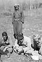 Iraq 1962.Qara Dagh, seating in the middle Sheikh Mohamed, left Norshirwan Fuad Nasti, right Sheikh Latif Sheikh Hussein, chief of peshmerga, standing Hussein Faraj, killed in the battle of Kifri