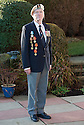 Lieutenant Commander Kenneth Reith, MB Royal Navy, who is campaigning to have the British Government award Arctic Convoy veterans a medal. The medals on the right hand side of his blazer are the medals awarded by the Russians..