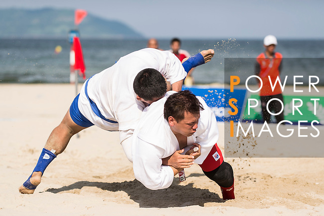 Thailand vs Vietnam during the Sambo competition on Day Nine of the 5th Asian Beach Games 2016 at Bien Dong Park on 02 October 2016, in Danang, Vietnam. Photo by Marcio Machado / Power Sport Images