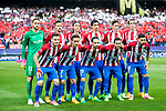 Players of Atletico de Madrid line up and pose for photos prior to the 2016-17 UEFA Champions League Quarter-Finals 1st leg match between Atletico de Madrid and Leicester City at the Estadio Vicente Calderon on 12 April 2017 in Madrid, Spain. Photo by Diego Gonzalez Souto / Power Sport Images