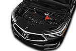 Car stock 2020 Acura RDX RDX 5 Door SUV engine high angle detail view
