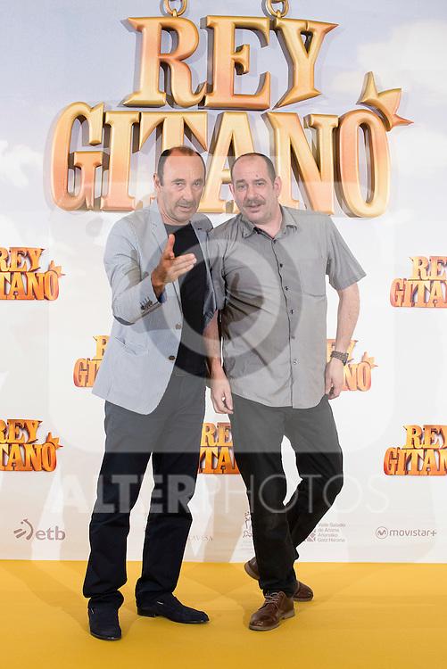 """Actors Manuel Manquiña and Karra Elejalde pose during """"Rey Gitano"""" film presentation at Palafox Cinemas in Madrid, Spain. July 09, 2015.<br />  (ALTERPHOTOS/BorjaB.Hojas)"""