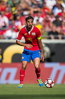 Orlando, Florida - Saturday, June 04, 2016: Costa Rican midfielder Bryan Ruiz (10) during a Group A Copa America Centenario match between Costa Rica and Paraguay at Camping World Stadium.
