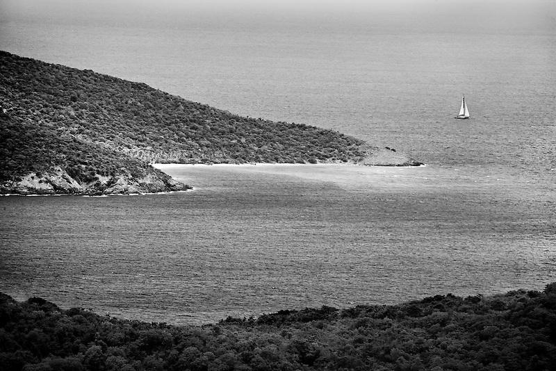 Hnas Lolick Island as seen from St. Thomas. Us Virgin Islands.