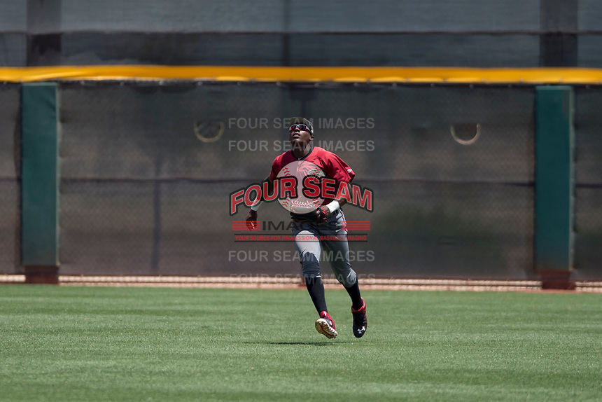 Arizona Diamondbacks right fielder Jesus Marriaga (3) prepares to catch a fly ball during an Extended Spring Training game against the Cleveland Indians at the Cleveland Indians Training Complex on May 27, 2018 in Goodyear, Arizona. (Zachary Lucy/Four Seam Images)