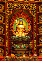 Buddha in Wall Nitch Surrounding the Prayer Hall, Buddha Tooth Relic Temple, Singapore.