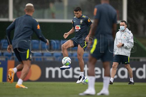 11th November 2020; Granja Comary, Teresopolis, Rio de Janeiro, Brazil; Qatar 2022 qualifiers; Thiago Silva of Brazil during training session in Granja Comary
