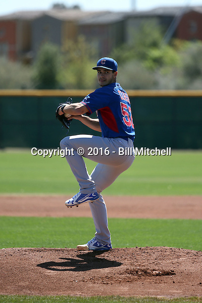 Dylan Cease - Chicago Cubs 2016 spring training (Bill Mitchell)